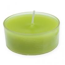 Bougies chauffe-plats vert es maxi Ø 5,7 cm 4 p.