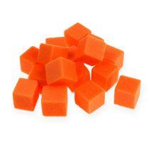 Mousse florale mouillable, mini-dés, couleur orange, 300 pièces
