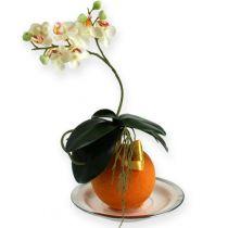 Boules de mousse florale, couleur orange,  9 cm, lot de 4