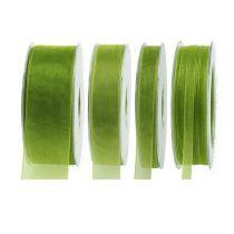 Ruban en organza vert mousse 50 m