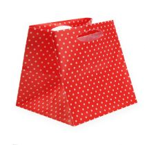 Lot de sacs en plastique rouges 6,5 x 6,5 cm 12 p.