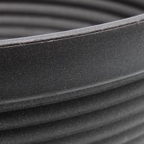 Coquille R plastique anthracite Ø13cm - 19cm 10pcs