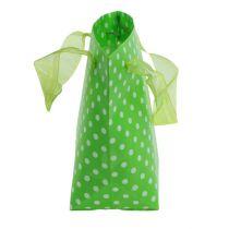 Sac shopping blanc-vert 31 cm 5 p.