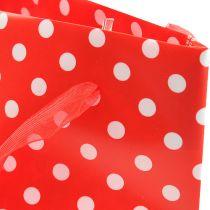 Sac à présents blanc-rouge 31 cm 5 p.