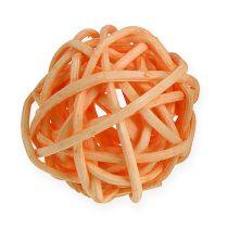 Balle en rotin orange, abricot, blanchi (72 p.)