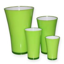 "Vase en plastique ""Fizzy"" vert pomme, 1pce"