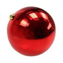 Boule de Noël moyenne en plastique rouge 20cm
