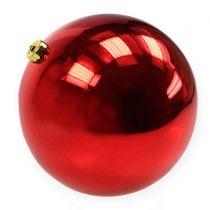 Boule de Noël en plastique grande rouge Ø25cm