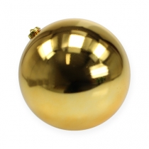 Boule de Noël moyenne or 20cm plastique
