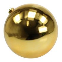 Boule de Noël en plastique grand or Ø25cm