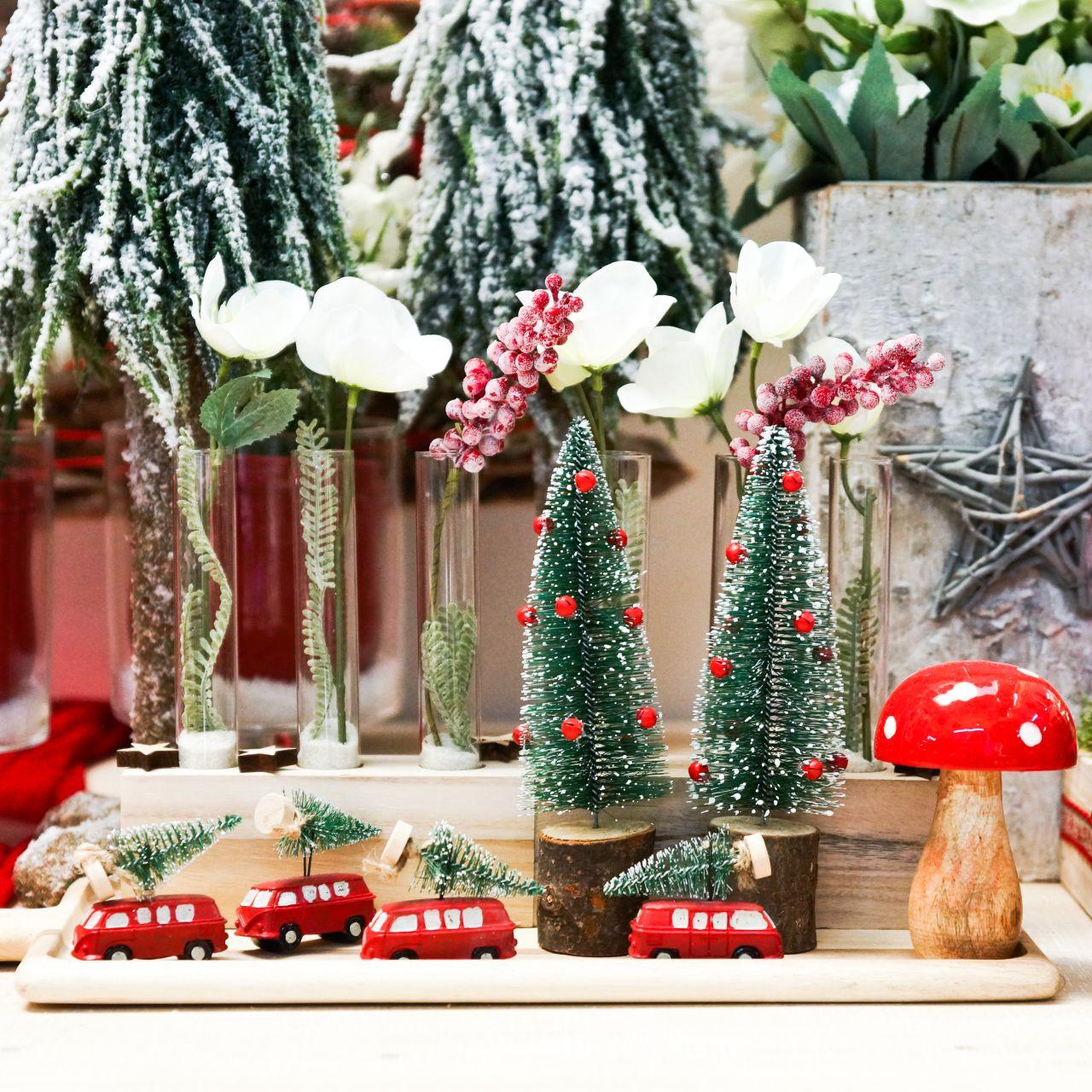 Décoration de sapin de Noël avec sapin rouge / vert 2pcs