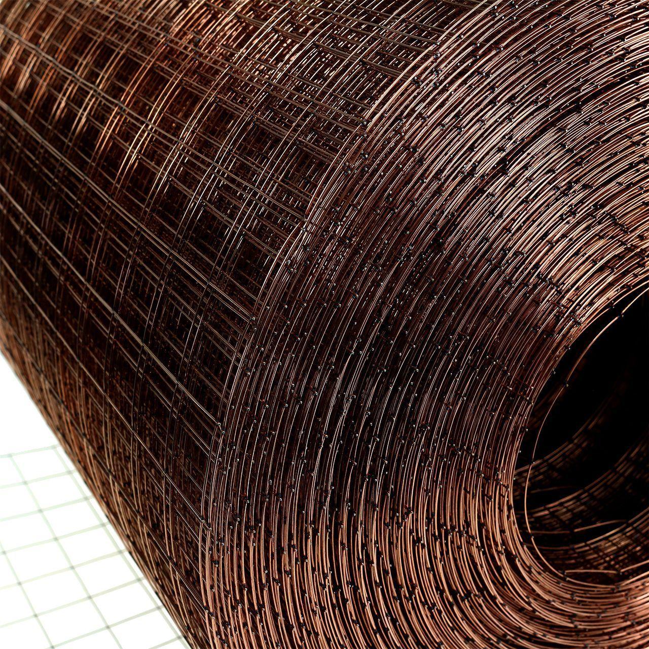 Maille métallique cuivrée 35cm 100m