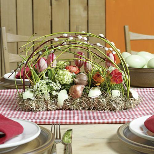 Décoration de table en brique mousse florale 29cm x 12cm x 8,5cm 4pcs