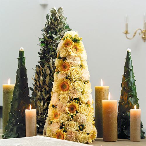 Mousse florale en forme de cône H50cm Ø15cm 2pcs