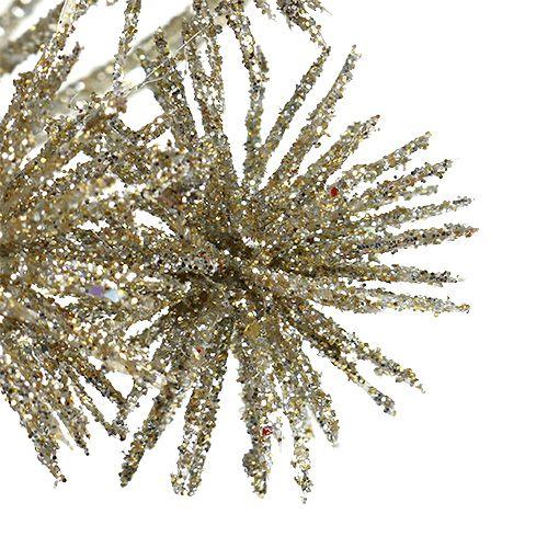 Allium avec champagne mica Ø18cm L70cm