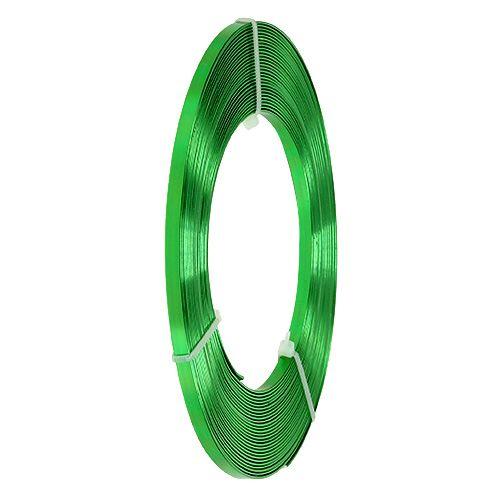 Fil en aluminium plat vert pomme 5 mm 10 m