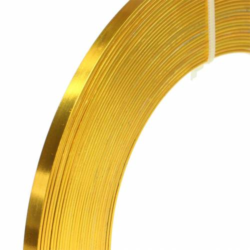 Fil plat en aluminium 5mm 10m fil de métier jaune soleil