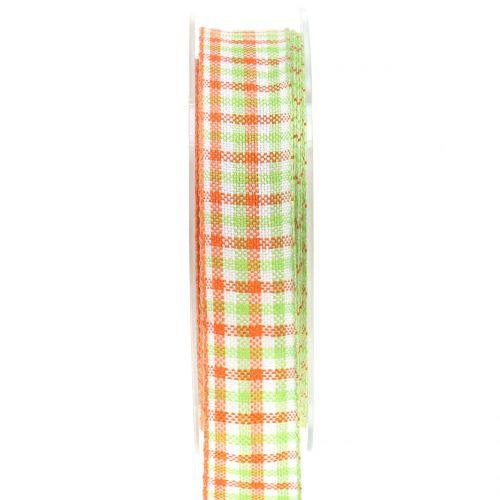 Karoband Vert / Orange 25mm 15m
