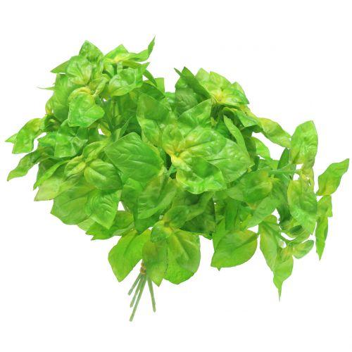 Basilic artificiel vert 25 cm 6 p.