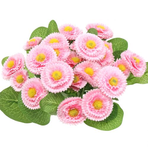 Bellis bouquet rose clair 24cm 4pcs