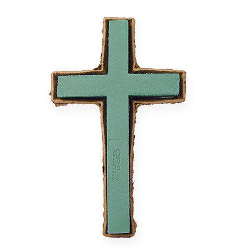 Mousse florale croix grand vert 53cm 2pcs bijoux graves