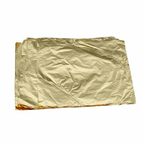 Feuilles de feuilles métalliques 16 × 16cm dorées 100p