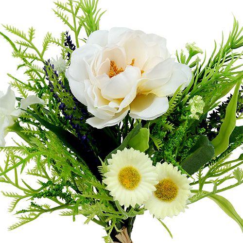 Bouquet de Bellis Blanc 20cm