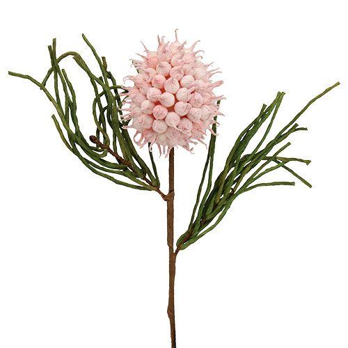 Branche de fleurs en mousse en rose vif/vert 65cm
