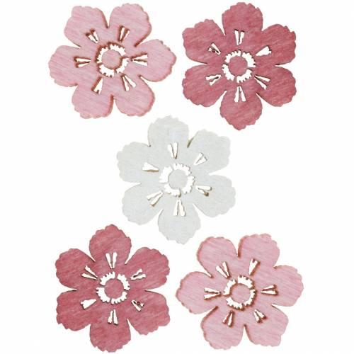 Fleurs de cerisier éparses, fleurs de printemps, décorations de table, fleurs en bois à disperser 144St