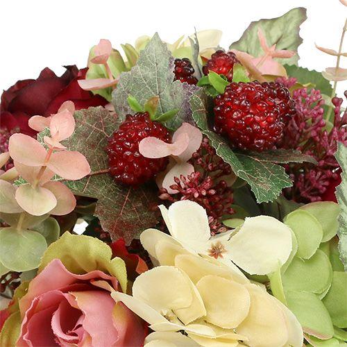 Bouquet de fleurs Ø25cm L28cm