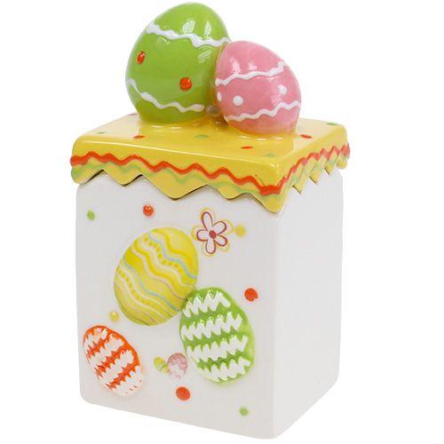 Boîte à bonbons jaune de Pâques 13,5 cm