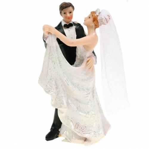 Décoration de mariage mariée et le marié peinte à la main H13cm