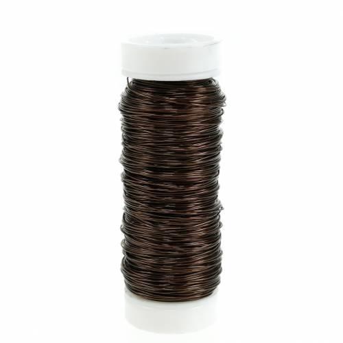 Fil émaillé décoratif Ø0,30mm 30g / 50m marron