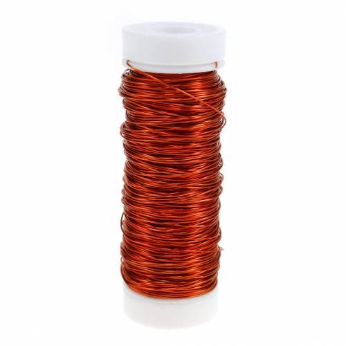 Fil émaillé décoratif orange Ø0.30mm 30g / 50m