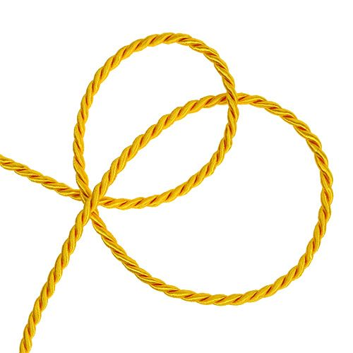 Cordelette décorative jaune 4 mm 25 m