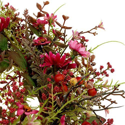 Guirlande décorative aux baies Ø25cm rose
