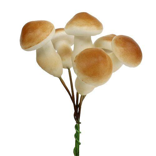 Champignon décoratif sur fil 3cm - 5cm 24pcs