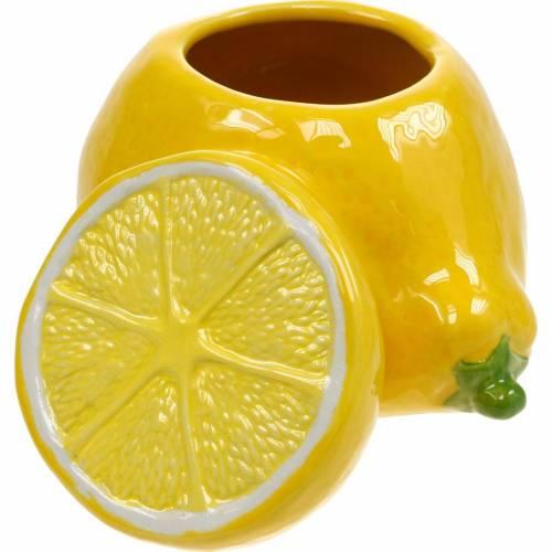 Pot décoratif citron vase décoration d'été en céramique d'agrumes