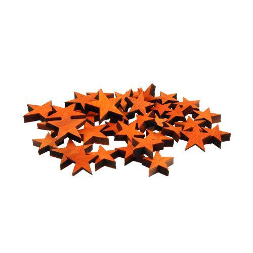 Etoiles en bois mélangent Orange pour étendre 3-5cm 72pcs