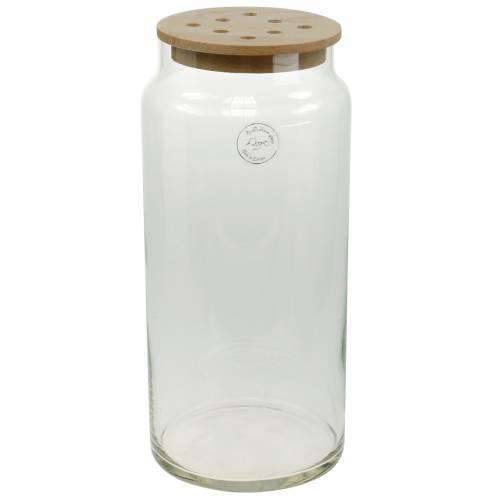 Vase décoratif à trous Vase en verre à couvercle perforé Décoration florale moderne