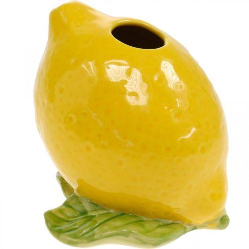Vase à fleurs décoration vase citron décoration d'été en céramique H11.5cm