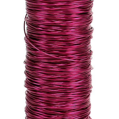 Fil de laque déco Ø0.30mm 30g / 50m rose