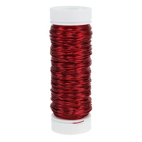 Fil déco verni Ø0,30mm 30g/50m rouge