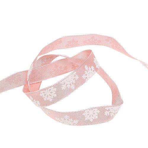 ruban décoratif avec fil métallique Rosa 15mm 20m