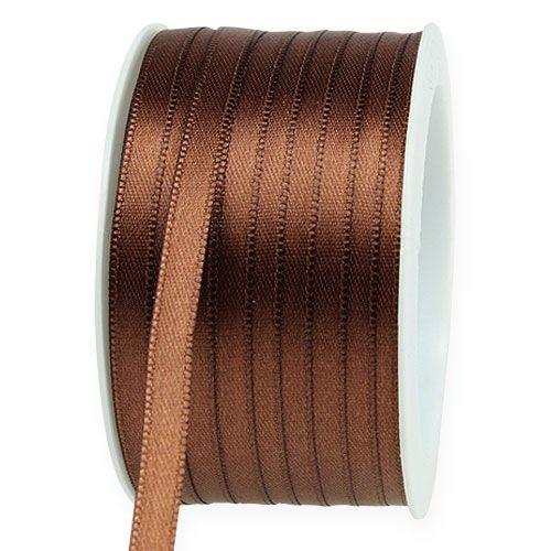 Ruban cadeau brun 6 mm x 50 m