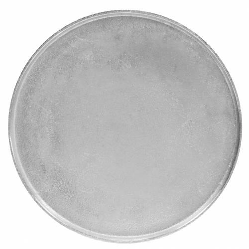 Assiette décorative en argile Ø31cm argent