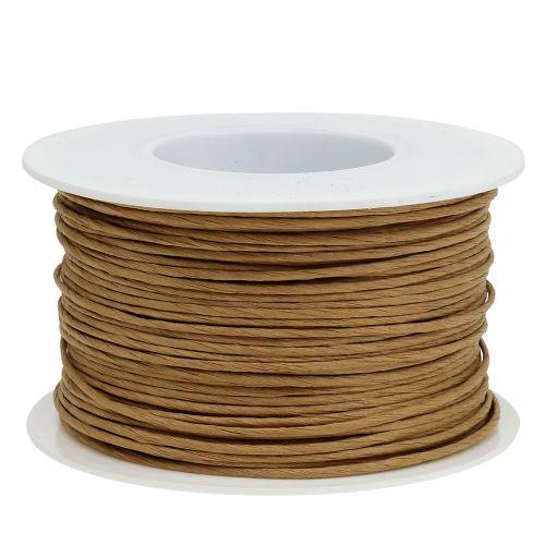 Fil de papier, fil enroulé dans Ø2mm, 100m naturel