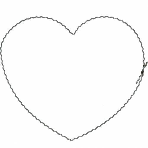 Wire Hearts 20cm Wave Anneaux Couronne Cerceaux Coeur 10pcs