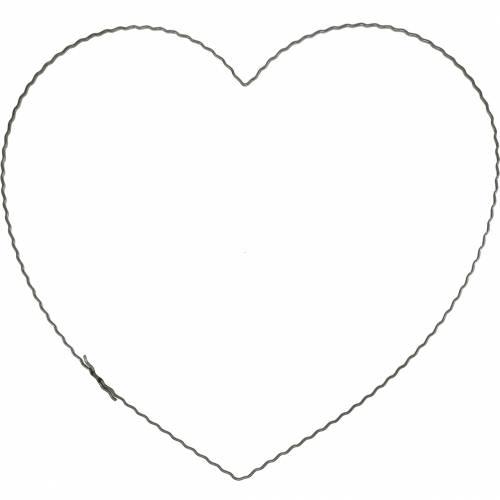 Wire Hearts 25cm Wave Anneaux Anneau de reliure pour guirlande de porte 10pcs