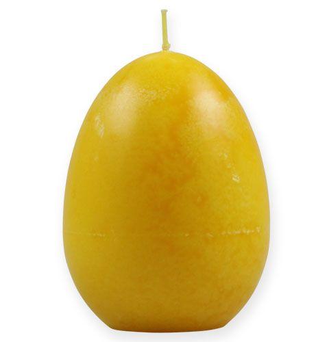 Bougie en forme d'un œuf 14cm Citron